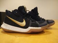 Nike Kyrie 3 navy/gold basketball boots UK size 6.5