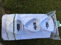 M&S Gents White Shirts - Set of 3 in Unopened Pack Size 39-40