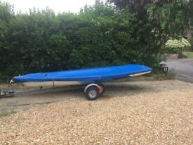 LASER SAILING DINGHY AND TRAILER