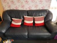 3 Seater + 2 Seater Leather sofa