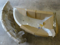 BRAND NEW WHITE ACYLIC BATH (RIGHT HAND) with SIDE PANEL