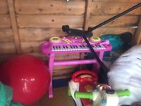 Kids pink piano for sale