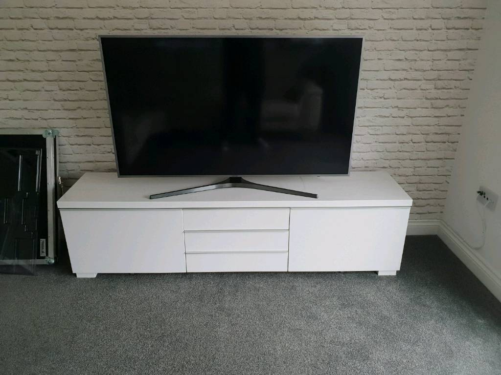 Magnificent White Ikea Besta Burs Tv Unit In Motherwell North Lanarkshire Gumtree Andrewgaddart Wooden Chair Designs For Living Room Andrewgaddartcom