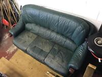 3 piece couch/sofa leather