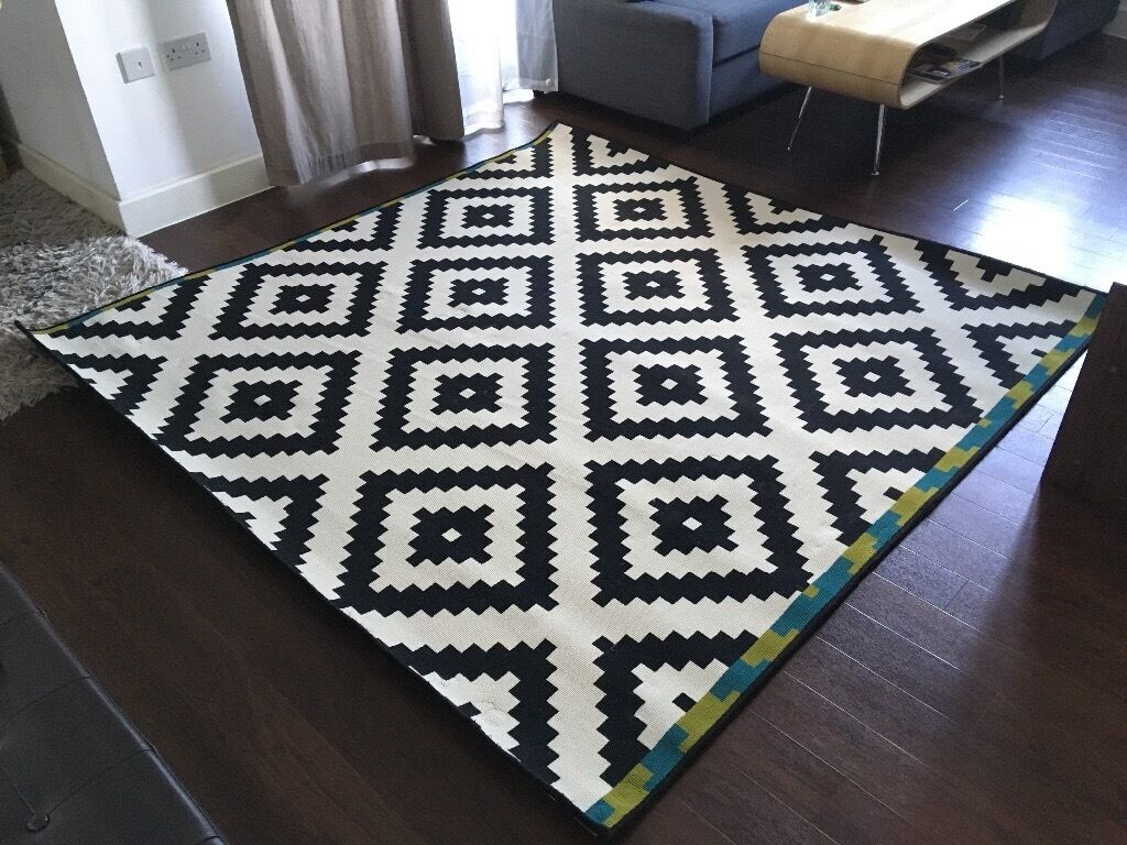 ikea lappljung ruta square rug 200x200 cm in london gumtree. Black Bedroom Furniture Sets. Home Design Ideas