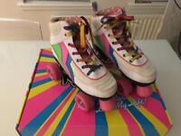 Girls quad roller skates, size UK4