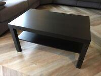 Ikea lack coffee table brown/black