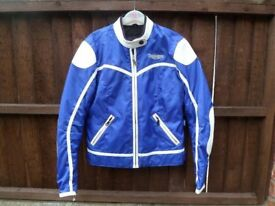 *TRIUMPH: LADIES BLUE/WHITE TEXTILE ~ MOTORCYCLE JACKET* Size Medium