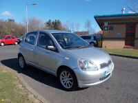 TOYOTA YARIS COLOUR COLLECTION SILVER 2003 SPARES OR REPAIR NO MOT DRIVES BARGAIN ONLY £250 *LOOK*