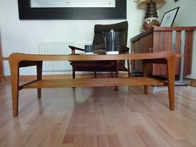 Vintage Retro Mid Century Long Teak Coffee Table