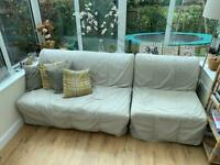 IKEA lycksele sofa bed - single & double pair