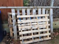 3 wooden pallets free. One large two normal sized