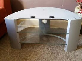 T.V cabinet, grey in good condition