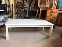 Pine table but painted white
