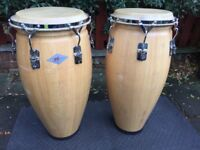 Pair of PJ, Session Line, Congas – 11.5 inches and 12 inches, Wooden For Sale