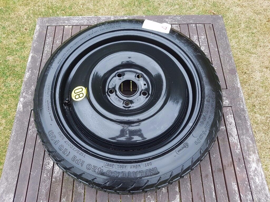 T125/70D17 space saver wheel from 2008 Toyota Auris (unused, with toolkit) £60