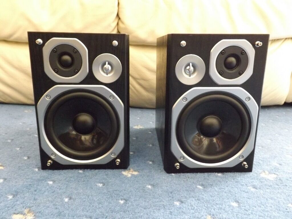 Panasonic Bookshelf Stereo Hifi Speakers SB PMX5 60 Watt 3 Ohm Like