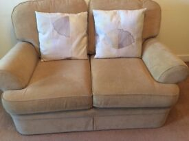 Large 2 seater settee - Marks and Spencer's gold coloured