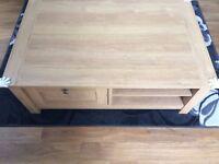 LivingRoom Furniture - Oak Wood - TV Stand, Coffee Table & Side Table