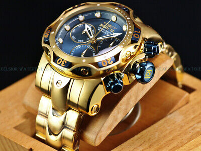 Invicta Reserve 52mm Blue Forest Venom Generation III Swiss Chrono 18K GP Watch