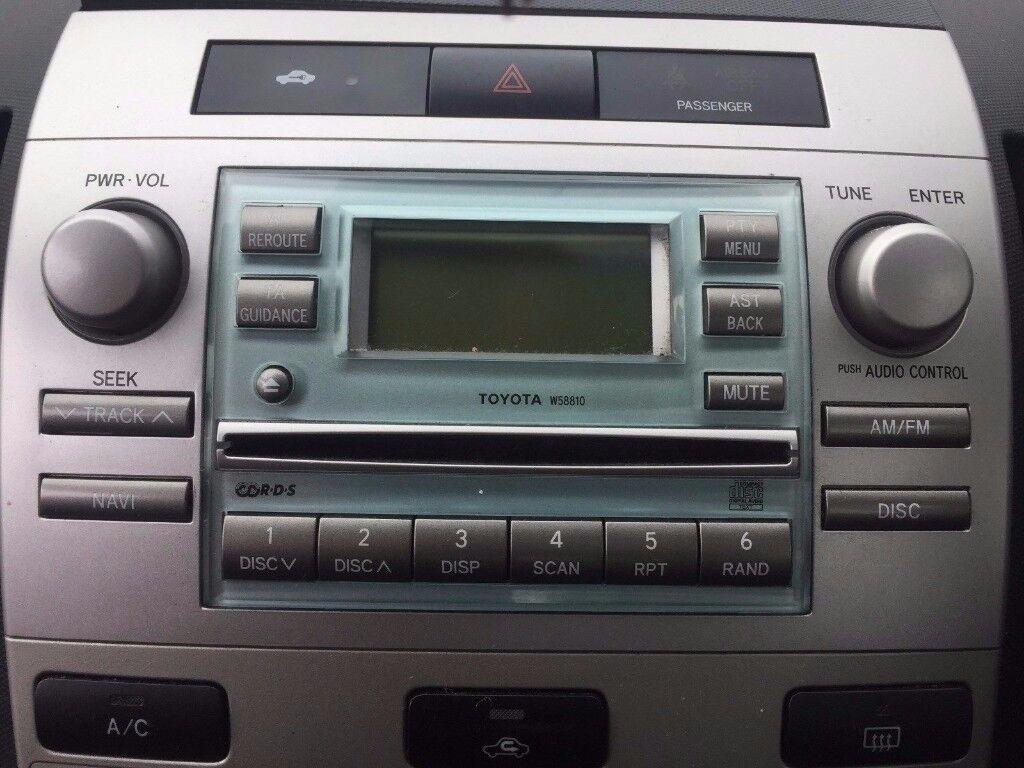 2005 toyota corolla verso 1.8i t2 vvti solid blue w58810 radio cd