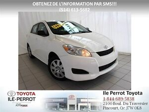 2012 Toyota Matrix *WOW*GRP COMMODITÉ, A/C, CRUISE, BLUETOOTH