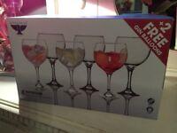 REDUCED - 6 Ravenhead Gin Balloon Glasses - Ideal xmas present, Brand New in Box