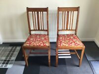 Dining chairs (Oak) x 2