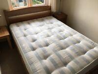 Warren Evans solid oak bedframe and sprung mattress