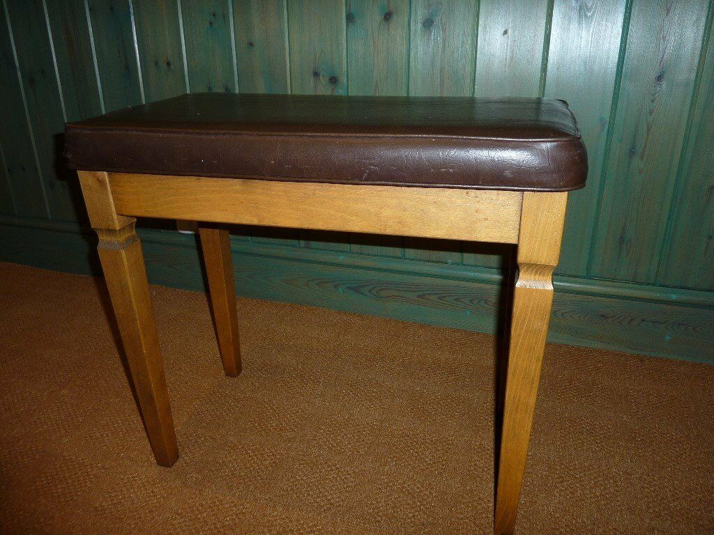 Double piano stool/bench with storage