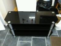 "50"" black glass TV unit"