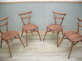 Stunning Vintage Ercol Stacking Chairs