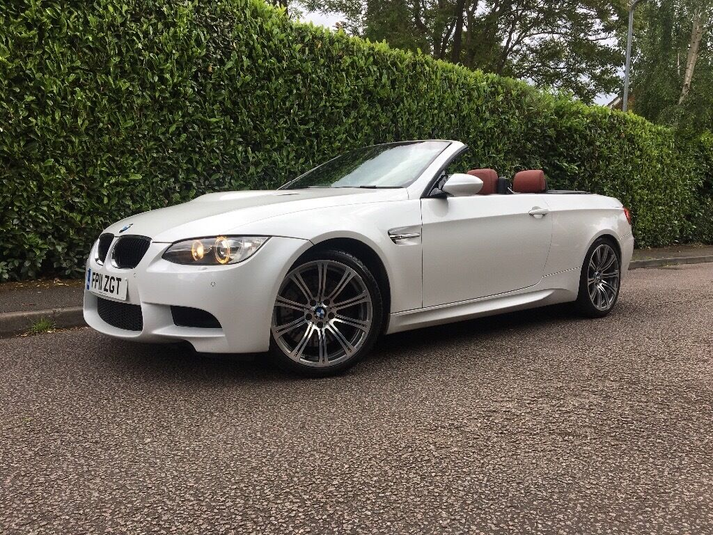 2011 Fully Loaded Bmw M3 4 0 Dct E93 E92 Convertible Mineral White Red Leather Fbmwsh 2