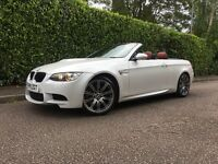 2011 FULLY LOADED BMW M3 4.0 DCT E93 E92 CONVERTIBLE - MINERAL WHITE - RED LEATHER - FBMWSH - 2 KEYS