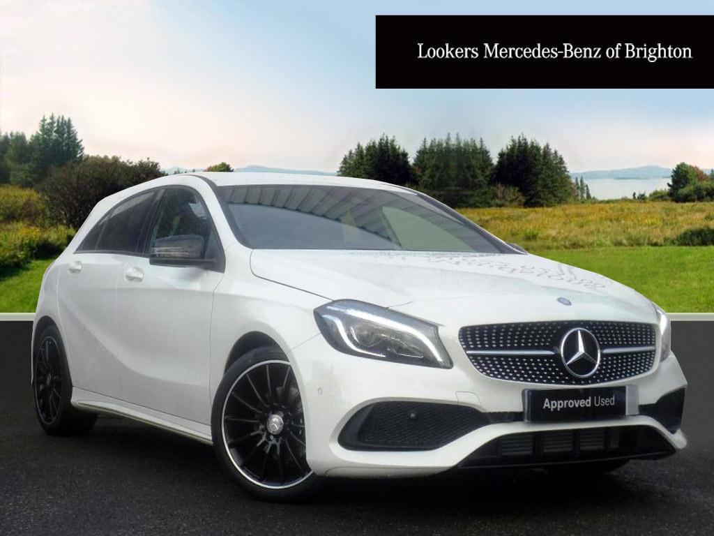 mercedes benz a class a 180 d amg line premium white. Black Bedroom Furniture Sets. Home Design Ideas