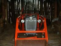 Tractor w/loader, Cab, Tire chains and Cultivator For Sale