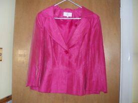 CC Cerise silk effect jacket Size 12