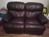 Leather reclining sofas 2&3 seaters