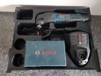 BOSCH 10.8v GOP multitool LI-ION +battery,Rapid charger, lboxx insert and accessories box