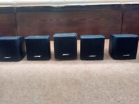 5x Bose Acoustimass Cube Jewel Speakers Home Cinema Surround Sound