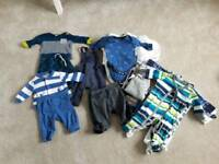 Huge Bundle of Baby Boys Clothes - Over 50 Items - Sizes 0-3mths and 3-6mths