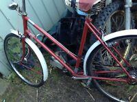 Vintage trumph bike