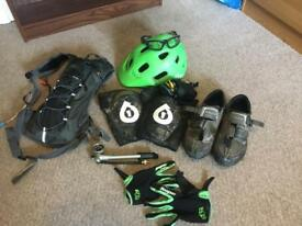 Mountain Biking gear.