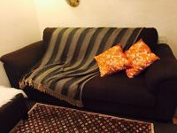 IKEA Three Seat Sofa Brown Fabric for Sale (Used)