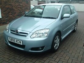 2006 06 TOYOTA COROLLA 1.4 vvti COLOUR COLLECTION 3 DR ** MOT JULY 2018 ** ONE OWNER **