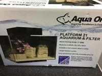 Aqua One Platform 21 Aquarium With Filtration System AS NEW