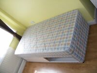 CAN DELIVER - SINGLE DIVAN BED WITH LARGE DRAWER AND MATTRESS IN VERY GOOD CONDITION