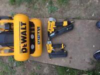 Dewalt air compressor with to nail guns