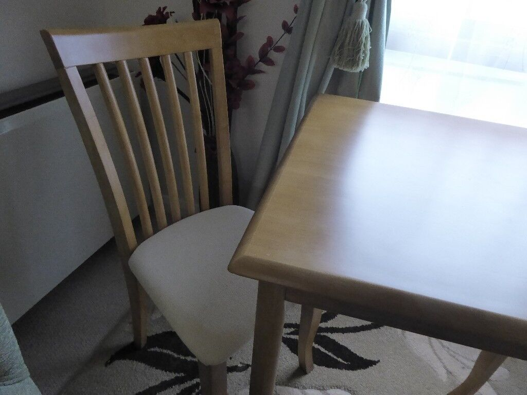 3' square wooden Table with 2 Dining Chairs