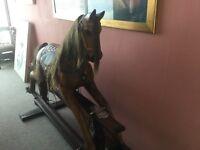 Solid Teak Rocking Horse